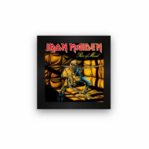 Quadro azulejo com moldura Iron Maiden Piece Of Mind
