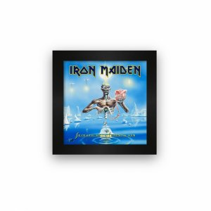 Quadro azulejo com moldura Iron Maiden Seventh Son