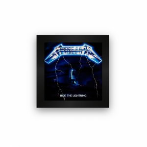 Quadro azulejo com moldura Metallica Ride The Lightning