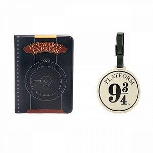 Kit Viagem Tag E Passaporte Harry Potter Hogwarts Express