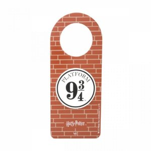 Aviso de porta Harry Potter plataforma 9 34