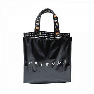 Sacola PP Friends Logo e Frases 40x15x40 cm