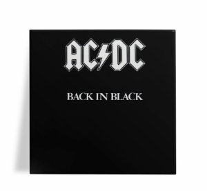 Azulejo Decorativo AC DC Back in Black 15x15