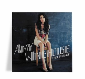 Azulejo Decorativo Amy Winehouse Back to Black 15x15