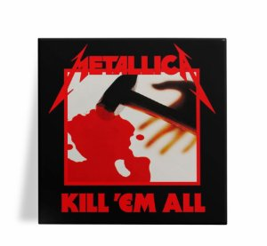Azulejo Decorativo Metallica Kill Em All 15x15
