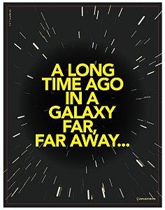 Quadro metal Star Wars Galáxia 26X20CM