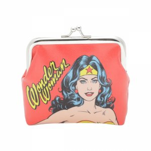 Porta Moedas Mulher Maravilha DC Comics 10X2.2X12,5 cm
