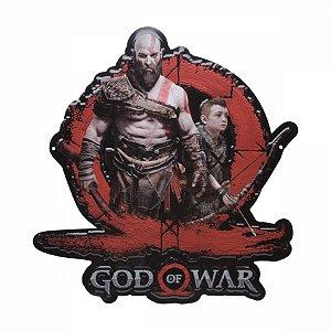 Placa Aluminio God of War Kratos e Atreus