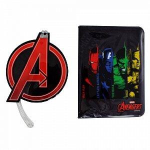 Kit Viagem Tag e Passaporte Vingadores Avengers DC