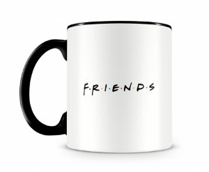 Caneca Friends logo Preta