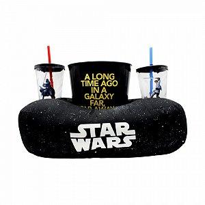 Kit almofada pipoca fibra Star Wars