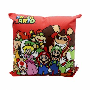 Almofada Super Mario Turma 40X40 cm Veludo