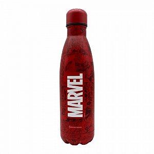 Garrafa De Alumínio Marvel Quadrinhos Vermelha 500 ml