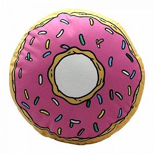 Almofada Donuts Rosquinha Simpsons 33x33 cm Veludo