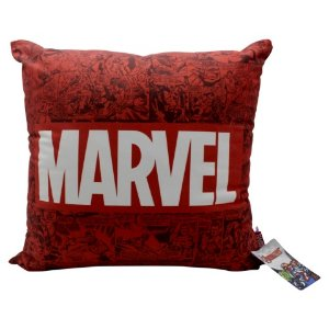 Almofada Marvel Quadrinhos Vermelha 40x40cm Veludo