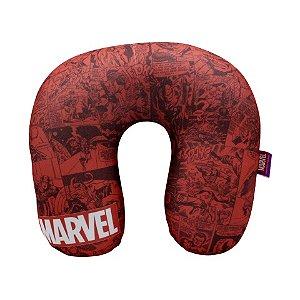 Almofada Pescoço Marvel Quadrinhos Vermelha