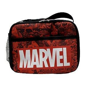 Lancheira Térmica Marvel Quadrinhos Vermelha 2 Bolsos