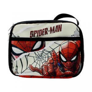 Lancheira Térmica Homem Aranha Marvel 2 Bolsos