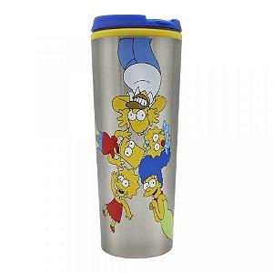 Copo Viagem Simpsons Caretas com tampa 450ml
