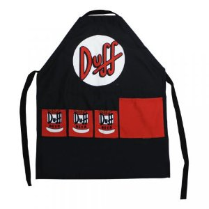Avental Algodão Simpsons Duff Beer 75X60CM