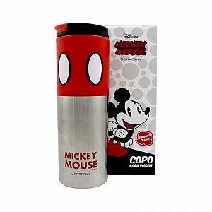Copo Viagem Mickey Mouse com tampa 500ml