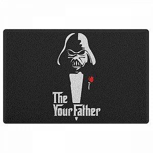 Capacho em Vinil Darth The your father- 60 x 40