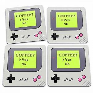 Porta Copos Game Boy Coffee Yes