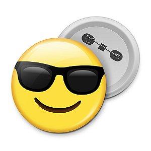 Botton Emoticon - Emoji Óculos de Sol