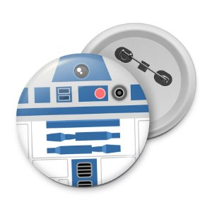 Botton Geek Side Faces - R2D2
