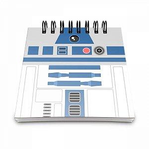 Bloco de Anotações Geek Side R2D2