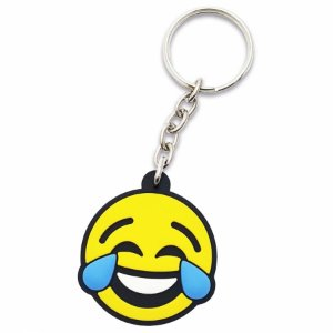Chaveiro Borracha - Emoji Chorando de rir