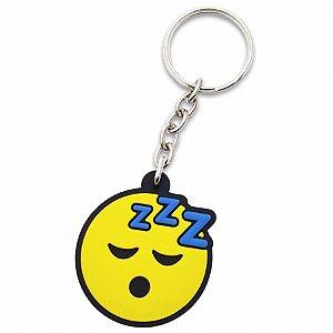 Chaveiro Borracha - Emoji Dormindo