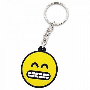 Chaveiro Borracha - Emoji Contente