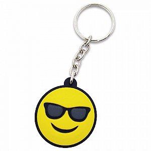 Chaveiro Borracha - Emoji Óculo de Sol