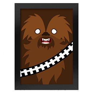 Poster com Moldura Geek Side Faces - chewbacca