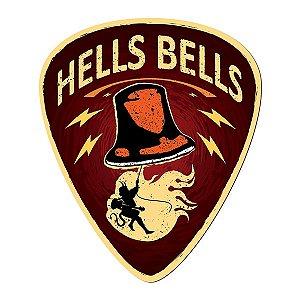 Placa Palheta Hells Bells - 27 x 23 cm