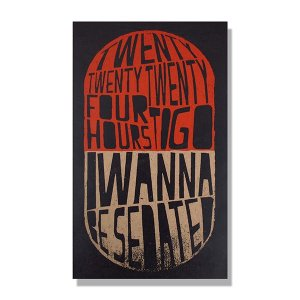 Quadro MDF 50x30  I wanna be sedated
