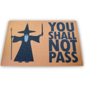 Capacho Senhor dos Anéis Pass - 60 x 40