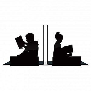 Porta Livros Crianças Lendo