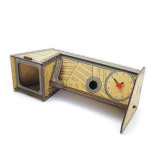 Amplificador para Celular e Relógio Vitrola