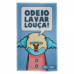 Pano Multiuso em Microfibra DrPepper Paiaço Odeio Lavar...