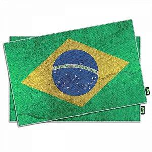 Jogo Americano Bandeira Brasil - 2 peças