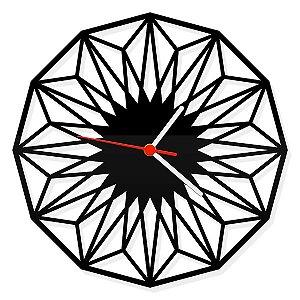 Relógio de Parede Geométrico