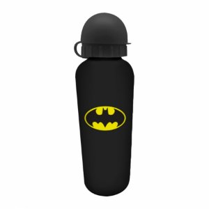 Squeeze aluminio DC Batman logo pretoamarelo 6,5 X 21 cm