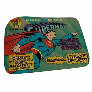 Tapete poliester floffy DC Superman flying azul 45 X 70 cm