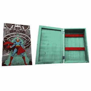 Porta chave cporta madeira DC Superman Being Attacked 21 X