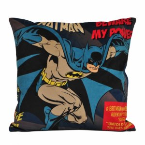 Capa de almofada poliester DCO Batman beware my powers azul 45