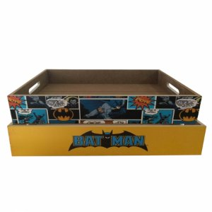 Set 2 pcs bandeja madeira DCO Batman colorido