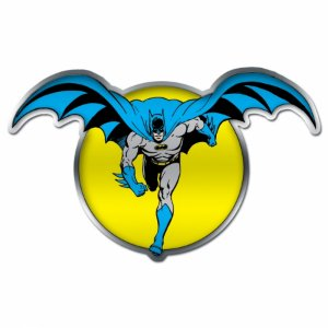Placa parede metal recortada DC Batman and the moon