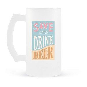 Caneca de Chopp Save Water